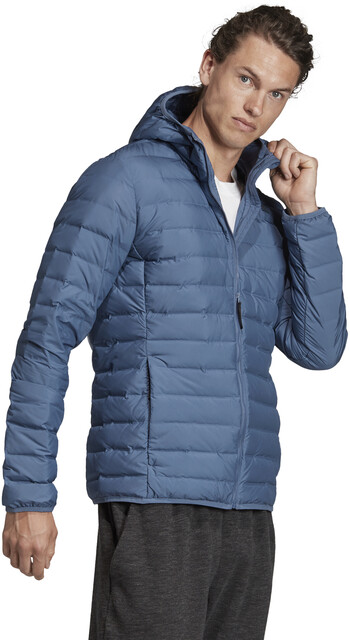 adidas TERREX Varilite Soft Hooded Down Jacket Men tech ink